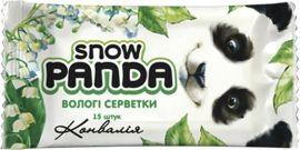Влажные салфетки Снежная Панда Ландыш, для рук, 15 шт. от Pampik