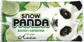 Влажные салфетки Снежная Панда Лайм, для рук, 15 шт. от Pampik