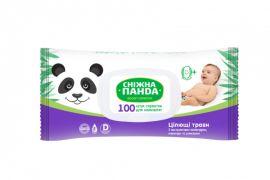 Влажные салфетки Снежная Панда Целительные травы, для новорожденных, 100 шт. от Pampik