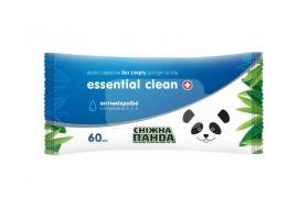Влажные салфетки Снежная Панда Essential Clean Витамины, 60 шт. от Pampik