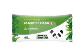 Влажные салфетки Снежная Панда Essential Clean Ромашка, 60 шт. от Pampik