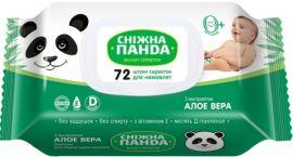 Влажные салфетки Снежная Панда Алоэ, для новорожденных, 72 шт. от Pampik