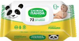 Влажные салфетки Снежная Панда Ромашка, для новорожденных, 72 шт. от Pampik