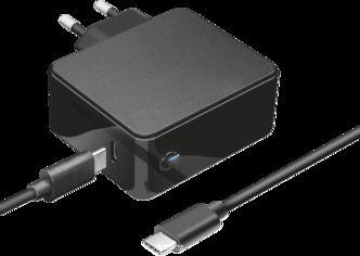 Акция на Сетевое зарядное устройство Trust Summa 45W universal USB-C Charger Black (TR21604) от Rozetka