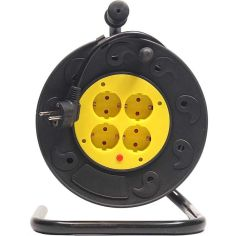 Сетевой удлинитель на катушке POWERPLANT JY-2002/25 (PPRA10M250S4) от Foxtrot