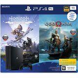 Акция на Игровая приставка SONY PlayStation 4 Pro 1Tb Black + God of War, Horizon Zero Dawn от Foxtrot