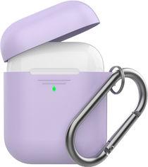 Силиконовый чехол AhaStyle дуо с карабином для Apple AirPods Lavender (AHA-02060-LVR) от Rozetka