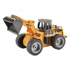 Акция на Бульдозер Hulna на дистанционном управлении 6 функций (HL1520) от Будинок іграшок