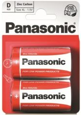 Акция на Батарейка Panasonic RED ZINK R20 BLI 2 ZINK-CARBON (R20REL/2BPR) от MOYO