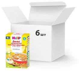 Упаковка детских органических хлопьев HiPP с фруктами 6 пачек по 200 г (4062300294530) от Rozetka