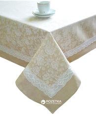 Скатерть Прованс White Rose с кантом и мережкой 140х220 см (4820175712296) от Rozetka