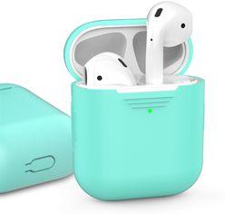 Акция на Классический Силиконовый чехол AhaStyle для Apple AirPods Mint green (AHA-01020-MGR) от Rozetka