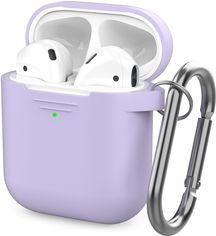 Классический Силиконовый чехол AhaStyle с карабином для Apple AirPods Lavender (AHA-01060-LVR) от Rozetka