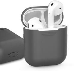 Акция на Классический Силиконовый чехол AhaStyle для Apple AirPods Gray (AHA-01020-GRY) от Rozetka