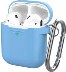 Классический Силиконовый чехол AhaStyle с карабином для Apple AirPods Blue (AHA-01060-SBL) от Rozetka