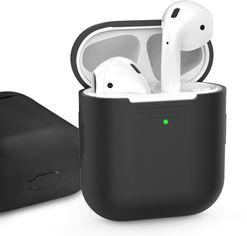 Акция на Классический Силиконовый чехол AhaStyle для Apple AirPods Black (AHA-01020-BLK) от Rozetka