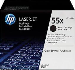 Акция на Картридж лазерный HP LJ P3015 series black max DUAL PACK (CE255XD) от MOYO