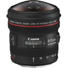 Акция на Объектив Canon EF 8-15 mm f/4.0L Fisheye USM (4427B005) от MOYO