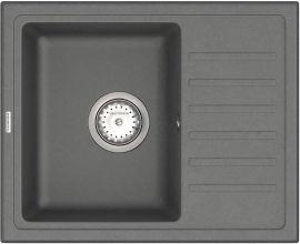 Кухонная мойка VANKOR Lira LMP 02.55 Gray Stone + сифон одинарный VANKOR Стандарт от Rozetka