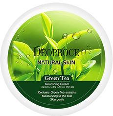 Акция на Антивозрастной восстанавливающий крем для лица Deoproce Natural Skin Green Tea с Гиалуроновой кислотой, Экстрактом зеленого чая и Витамином Е 100 мл (8809240760475) от Rozetka