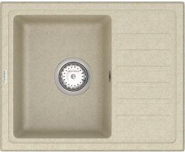 Кухонная мойка VANKOR Lira LMP 02.55 Beige + сифон одинарный VANKOR Стандарт от Rozetka