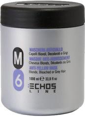 Акция на Маска Echosline М6 анти-желтый эффект для белокурых и седых волос 1000 мл (8033210296934) от Rozetka