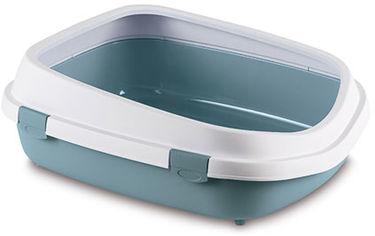 Акция на Туалет для кошек Stefanplast Queen 55 x 71 x 24.5 см Голубовато-стальной (8003507968608) от Rozetka