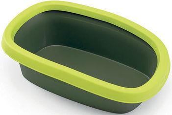 Акция на Туалет для кошек Stefanplast Sprint 20 58 x 39 x 17 см Салатовый/темно-зеленый (8003507965720) от Rozetka