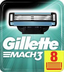 Акция на Сменные картриджи для бритья (лезвия) мужские Gillette Mach3 8 шт (3014260243548) от Rozetka
