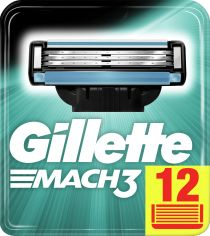 Сменные картриджи для бритья (Лезвия) Gillette Mach3 12 шт (3014260323240) от Rozetka