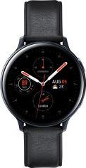 Акция на Смарт годинник Samsung Galaxy Watch Active 2 44mm Stainless steel (SM-R820NSKASEK) Black от Територія твоєї техніки