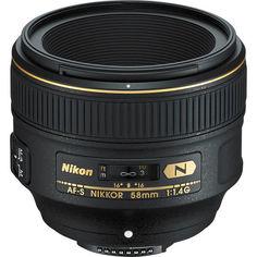 Объектив NIKON AF-S 58 mm f/1.4G (JAA136DA) от MOYO