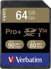 Verbatim Pro+ SDXC 64GB UHS Speed Class 3 (49197) от Rozetka