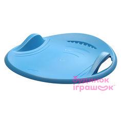 Санки-тарелка Plastkon Суперновая 60 синие для взрослых (41107881) от Будинок іграшок