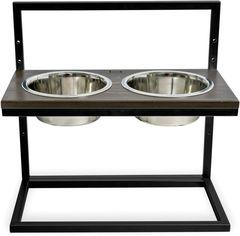 Подставка на две миски для собак Harley and Cho Lift M 0.75 л 30 см Коричневая с черным (3300169) от Rozetka