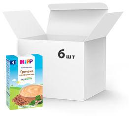 Упаковка молочных каш HiPP Гречневая с пребиотиками 6 пачек по 250 г (9062300426165_9062300440123) от Rozetka