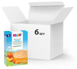 Акция на Упаковка молочных каш HiPP Рисово-кукурузная Персики-Абрикосы с пребиотиками 6 пачек по 250 г (9062300413639_9062300440093) от Rozetka