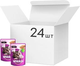 Упаковка влажного корма Whiskas для котов с лососем в соусе 24 шт по 100 г (4770608239251) от Rozetka