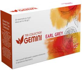 Чай черный пакетированный Gemini Tea Collection Grand Pack Эрл Грей 4 г х 20 пакетиков (4820156430850) от Rozetka