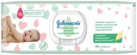 Детские влажные салфетки Johnson's® Тройная защита, 48 шт. от Pampik
