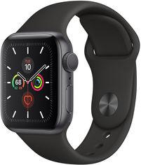 Акция на Apple Watch Series 5 40mm Gps Space Gray Aluminum Case with Black Sport Band (MWV82) от Y.UA