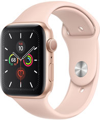 Apple Watch Series 5 44mm Gps Gold Aluminum Case with Pink Sand Sport Band (MWVE2) от Y.UA