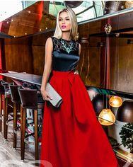Акция на Вишукане вечірнє плаття зі спідницею з габардину от Gepur