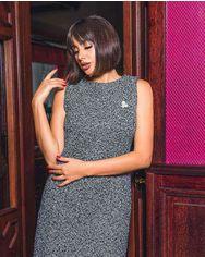 Буклированное платье-миди от Gepur