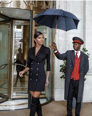 Черное платье-пиджак от Gepur