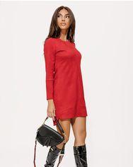 Замшевое платье красного цвета от Gepur