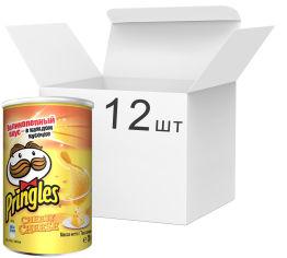 Упаковка чипсов Pringles Cheese Cheese Сир 70 г х 12 шт (5053990125234) от Rozetka