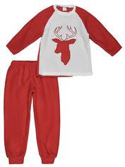 Пижама (футболка с длинными рукавами + штаны) Lito dy-22679 98-104 см Красно-белая (2000000354941) от Rozetka