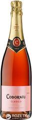 Акция на Вино игристое Codorniu Clasico Seco розовое сухое 0.75 л 11.5% (8410013006142) от Rozetka