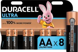 Щелочные батарейки Duracell Ultra Power AA 1.5В LR6 8 шт (5000394063051) от Rozetka